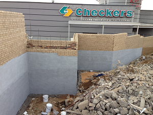 Waterproofing of Retaining Wall