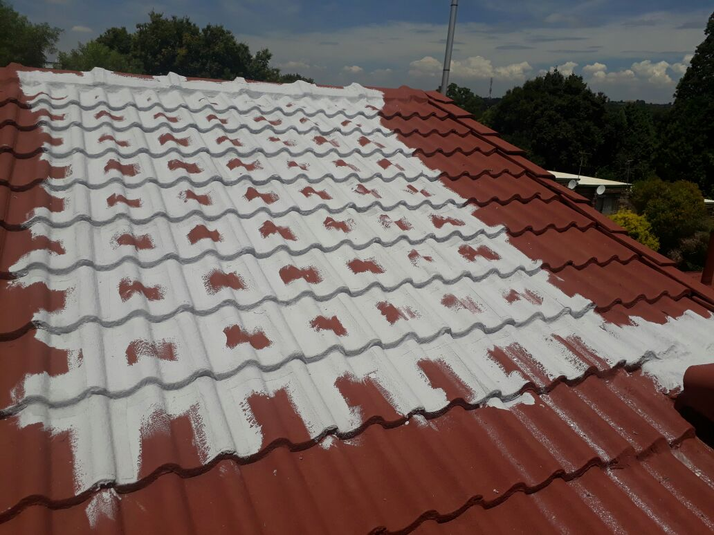 Horizontal & Vertical waterproofing of tile roof, Before