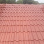 Horizontal & Vertical waterproofing of tile roof, After