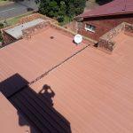 Repairing Zinc Roof.